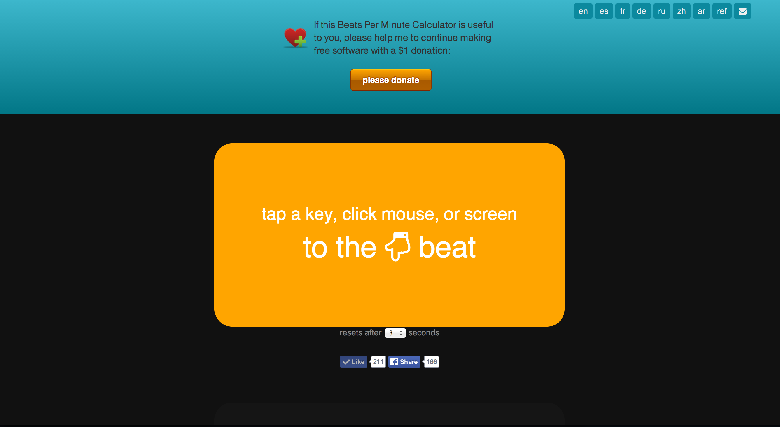Tap BPM - Online Beats Per Minute Calculator and Counter